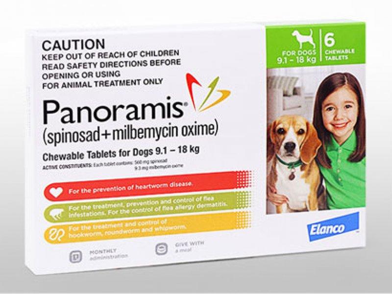 パノラミス錠中型犬用(9.1~18kg)の画像1